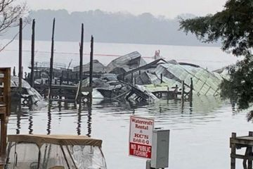 At least 8 people killed in massive dock fire that destroyed 35 boats