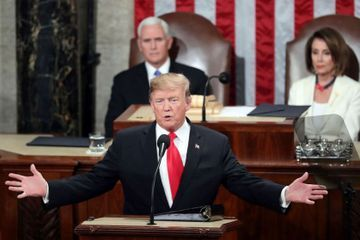 Trump to deliver State of the Union on eve of expected acquittal