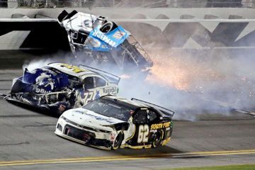 Daytona 500 ends with fiery crash involving Ryan Newman