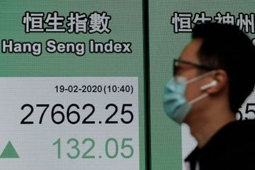 Global shares mostly rise while virus fears continue