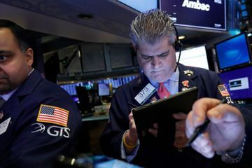 US stocks end a choppy day mostly lower as jitters return