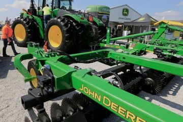 Deere sees some stability on farms in bruising trade fight