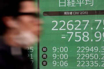 Asian shares mixed after Dow drops more than 1,000 points